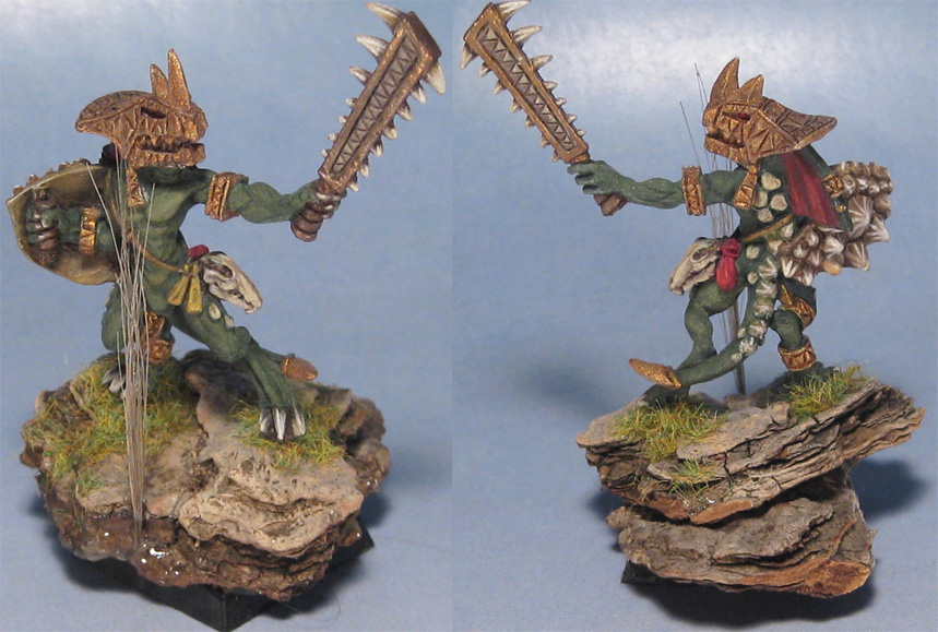 Skink Chief with Hand Weapon and Shield